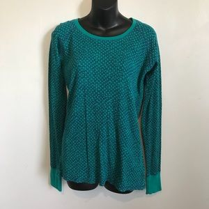 Columbia Teal Long Sleeve Thermal Tee size Large